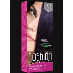 Coloração Yamá Fashion 4.2 Castanho Médio Violeta 60g