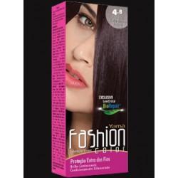 Coloração Yamá Fashion 4.8 Castanho Médio Marrom Intenso 60g