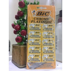 Cartela Lamina Barbear Chrome Platinum - Bic
