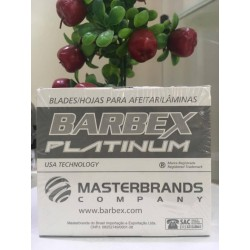 Cartela Lamina Barbear Platinum - Barbex