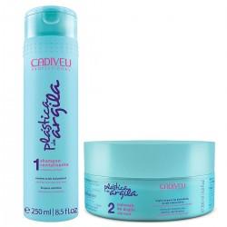 Kit Shampoo 250ml + Máscara Capilar 200g Plástica de Argila Cadiveu